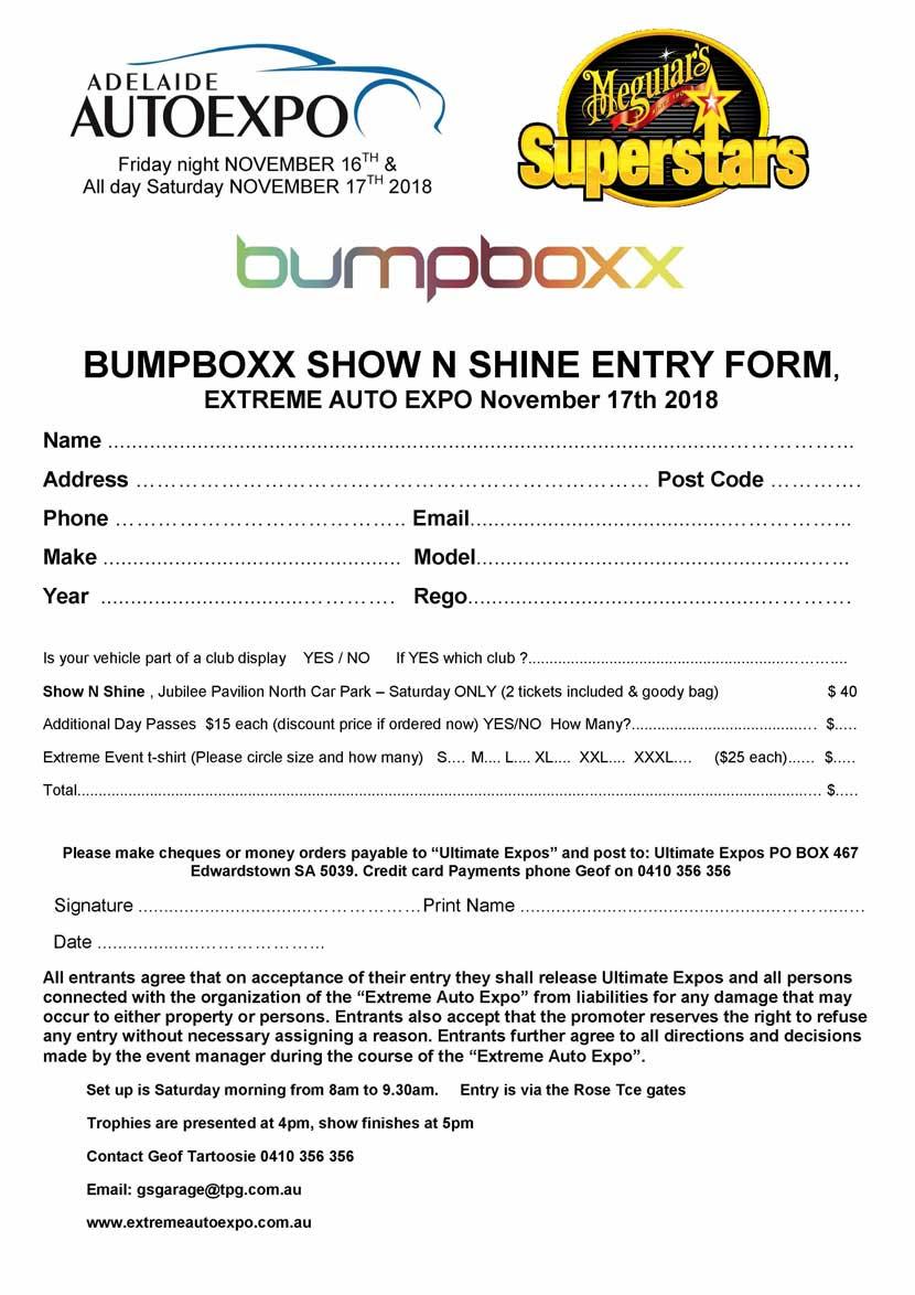 Bumpboxx Entry Form 2018