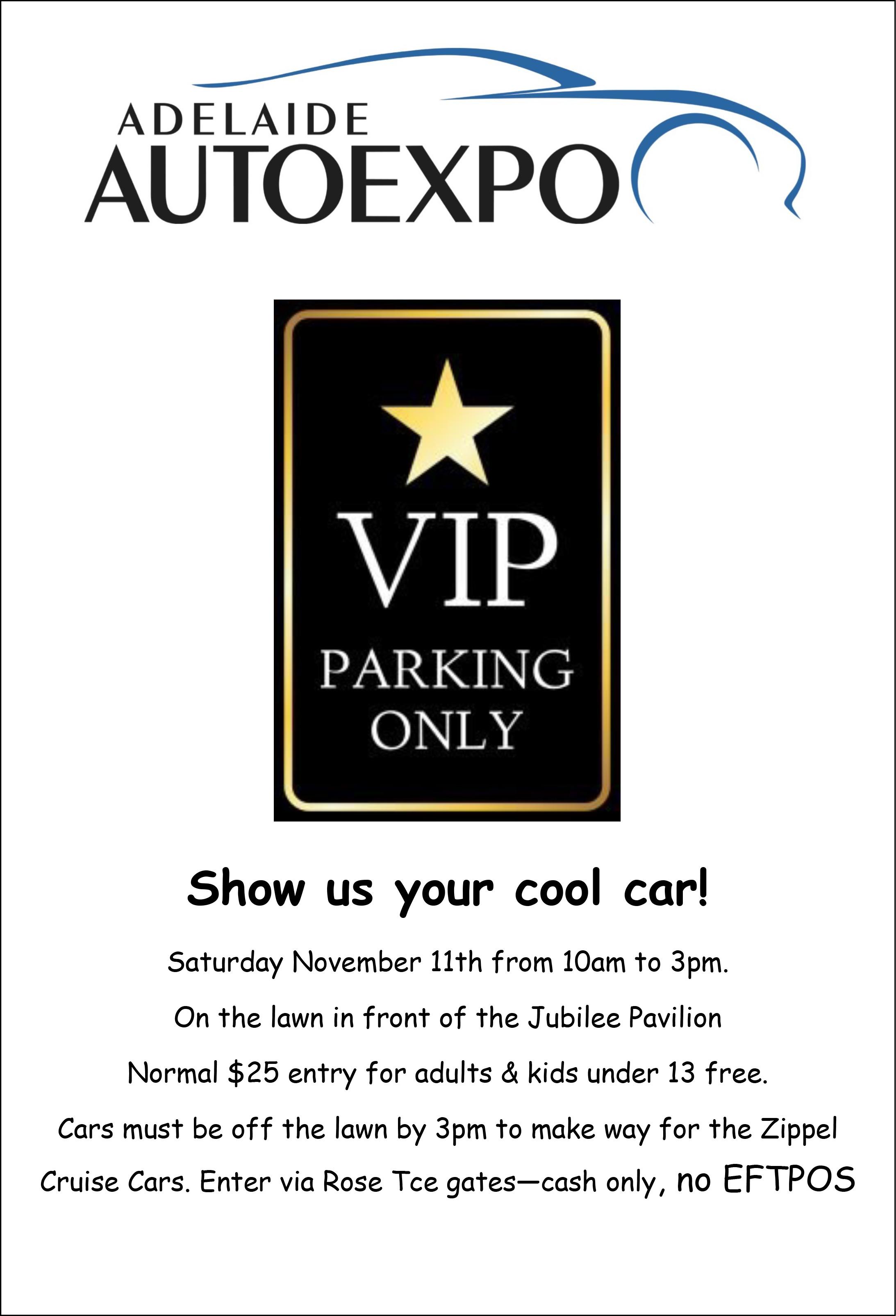 VIP Parking Flyer AAE 2017