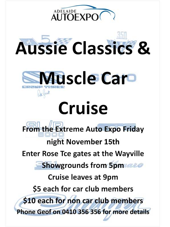 Aussie Classics Muscle Car Cruise