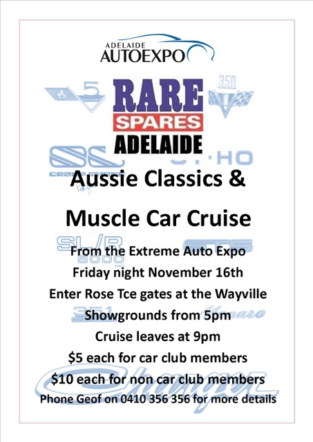 Aussie muscle car cruise 2018 Rare Spares
