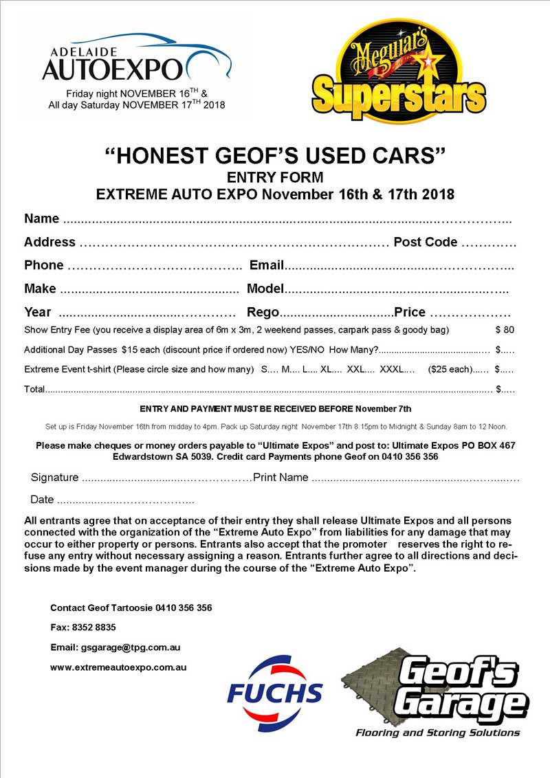 Honest Geof's Used Cars
